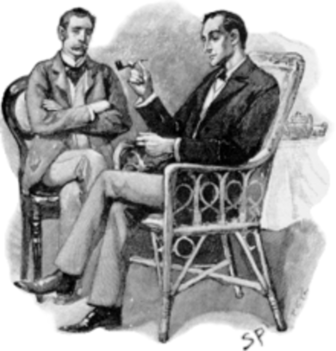 Dr. John H. Watson and Sherlock Holmes