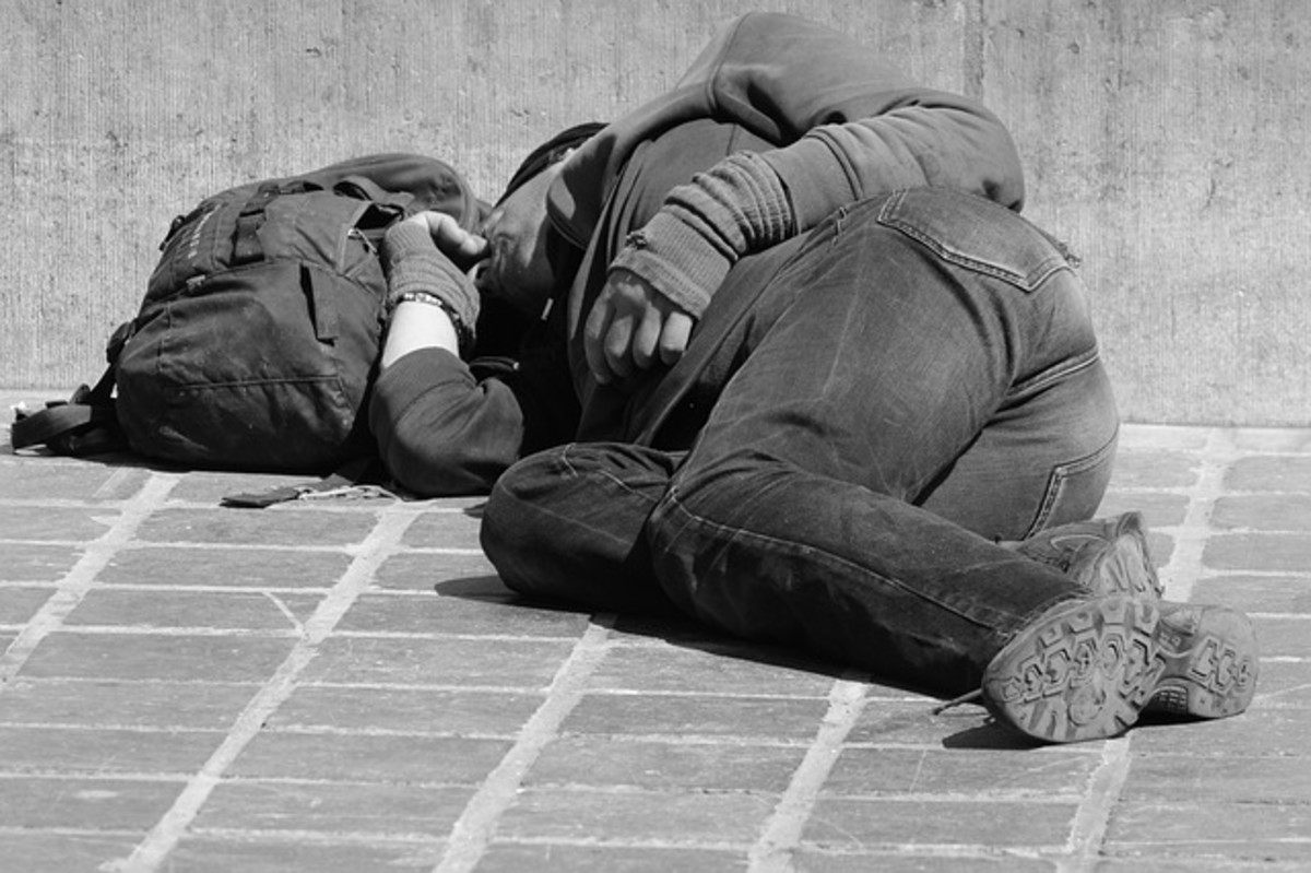 For some homeless persons, life is stuffed in a bag and lived out on the streets.