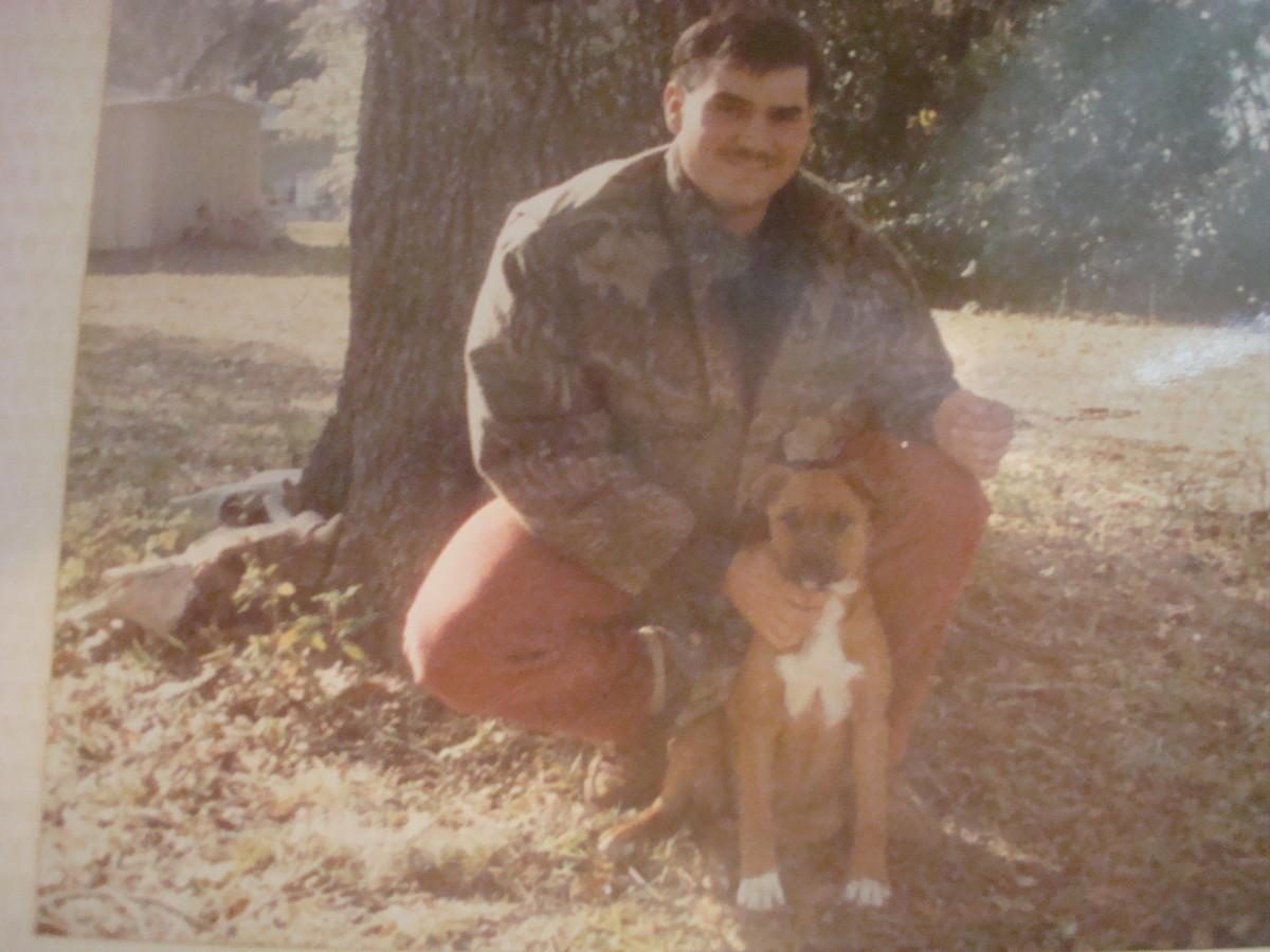 Baby John and his dog.