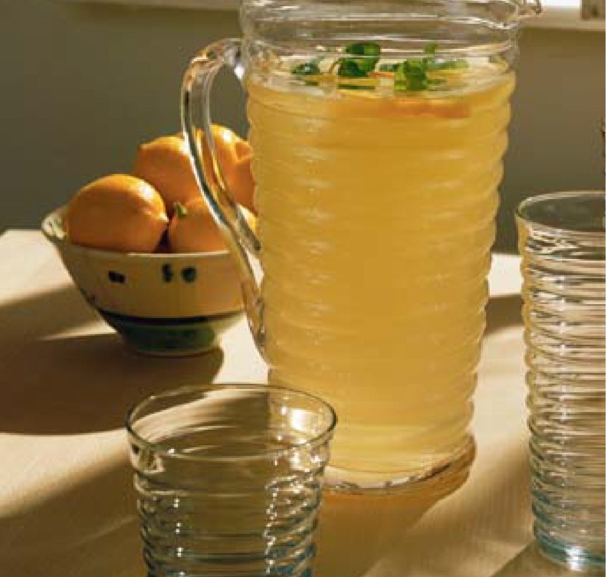 Once the pitcher was full, she added one packet of sugar-free powdered lemonade, squeezed in the juice of two lemons, then stirred in six packs of stevia.