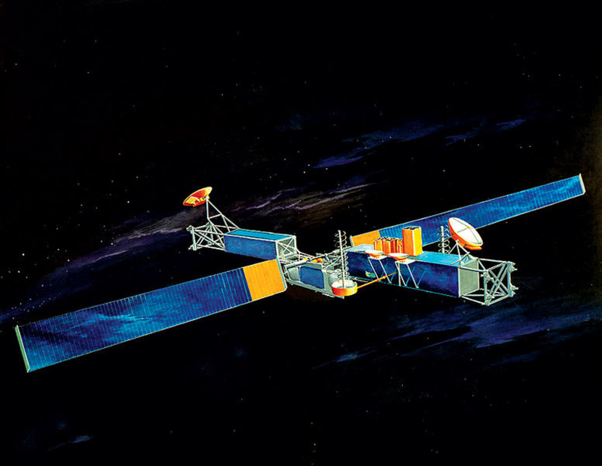 Satellites like this will crashing back down to Earth, due to the affects of 30 years of solar winds.