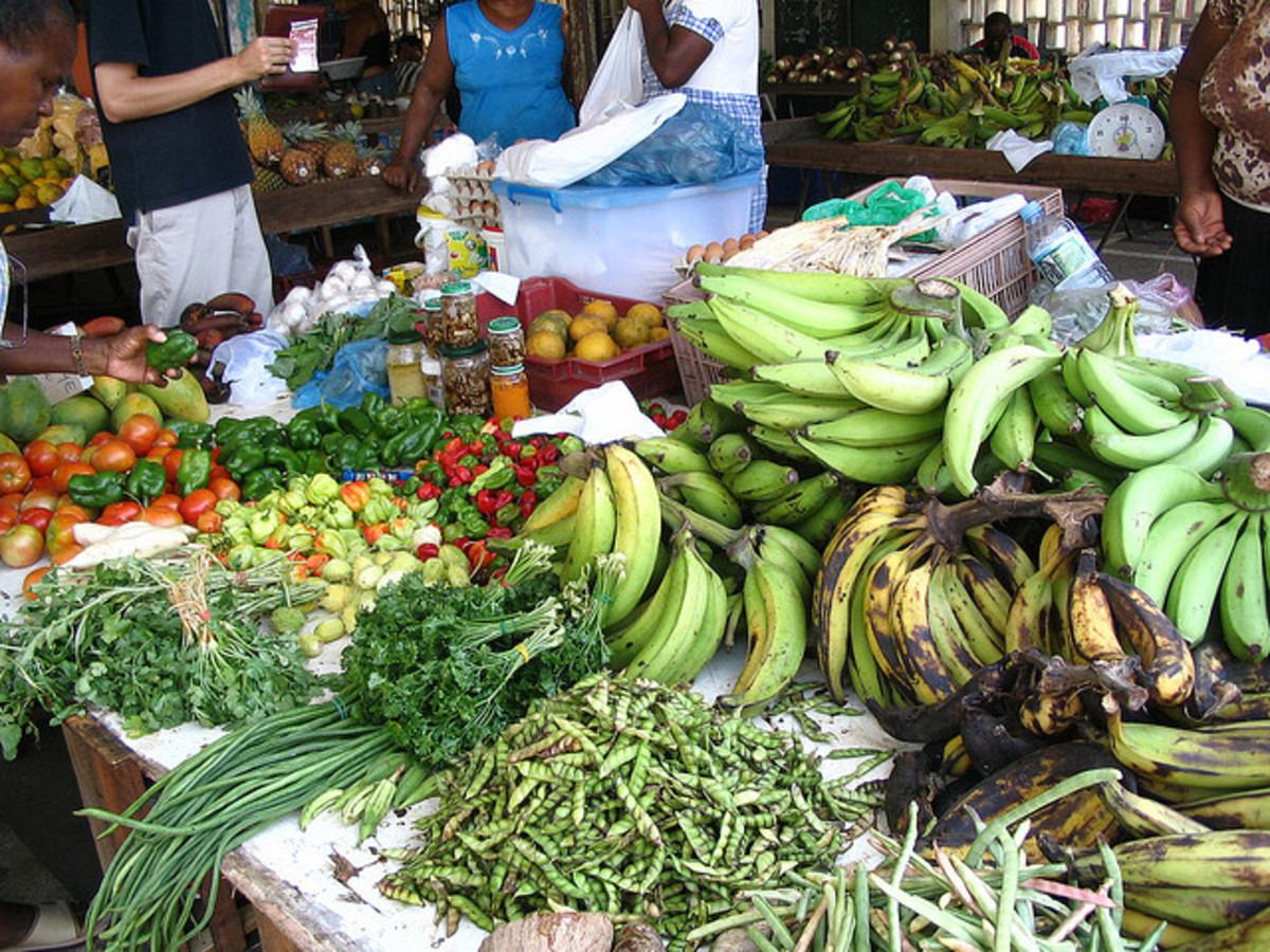 "Ma would ""Buy and Sell"" Fruits and Vegetables at Bourda Market in Georgetown, Guyana."