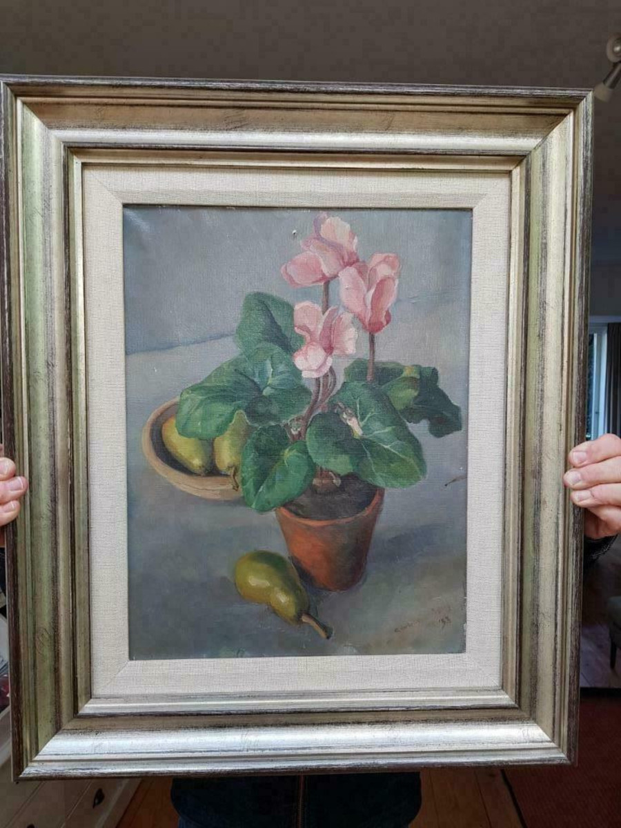 Still life painted by Synco Schram de Jong in 1935