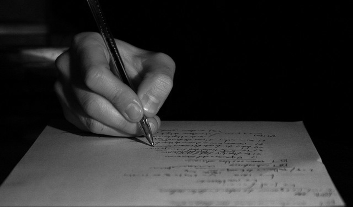 A poet's words flow from soul to pen, from pen to paper.