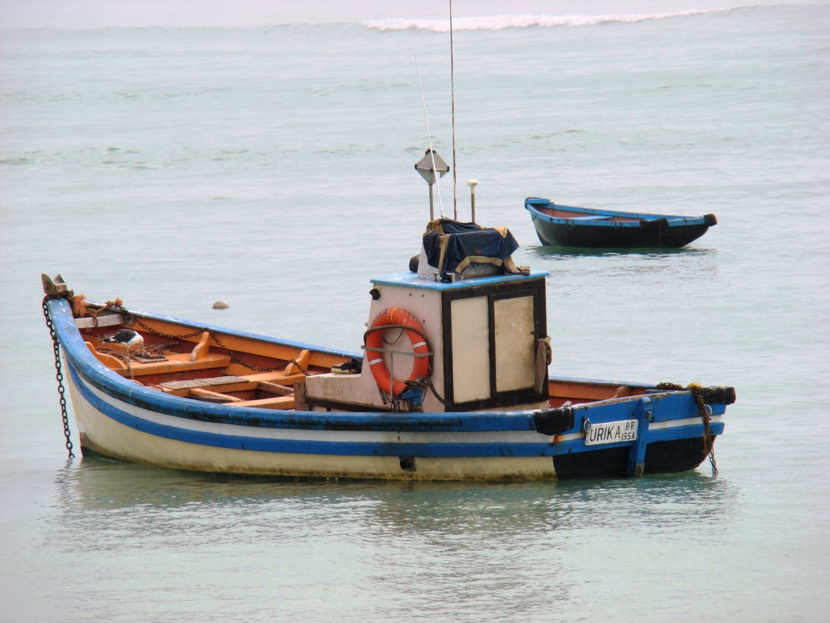 A fishing boat on the Skeleton Coast
