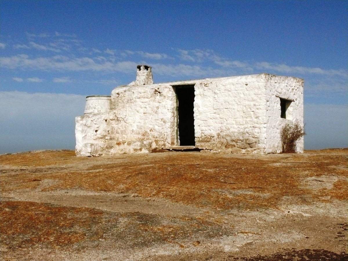 Early settlers build their houses along the coast-this one in the Southern Cape