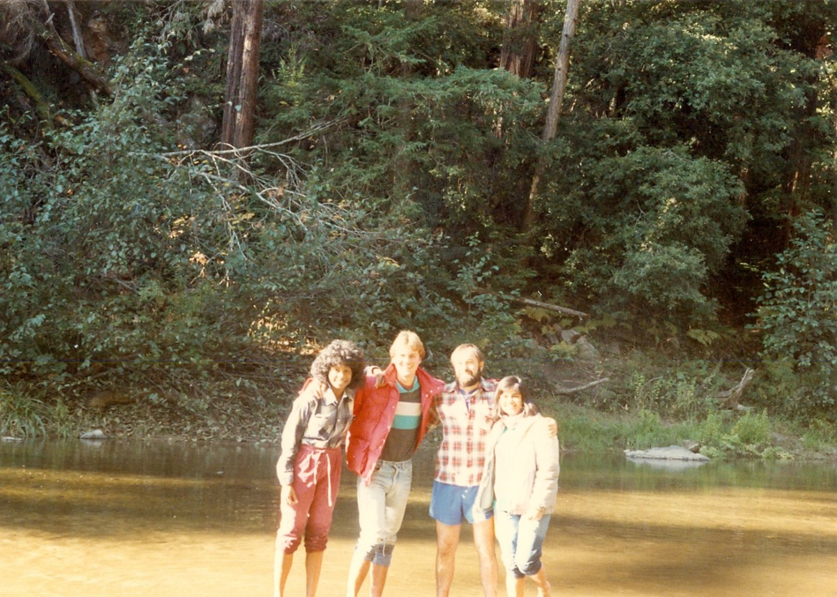 Our group, in the creek.