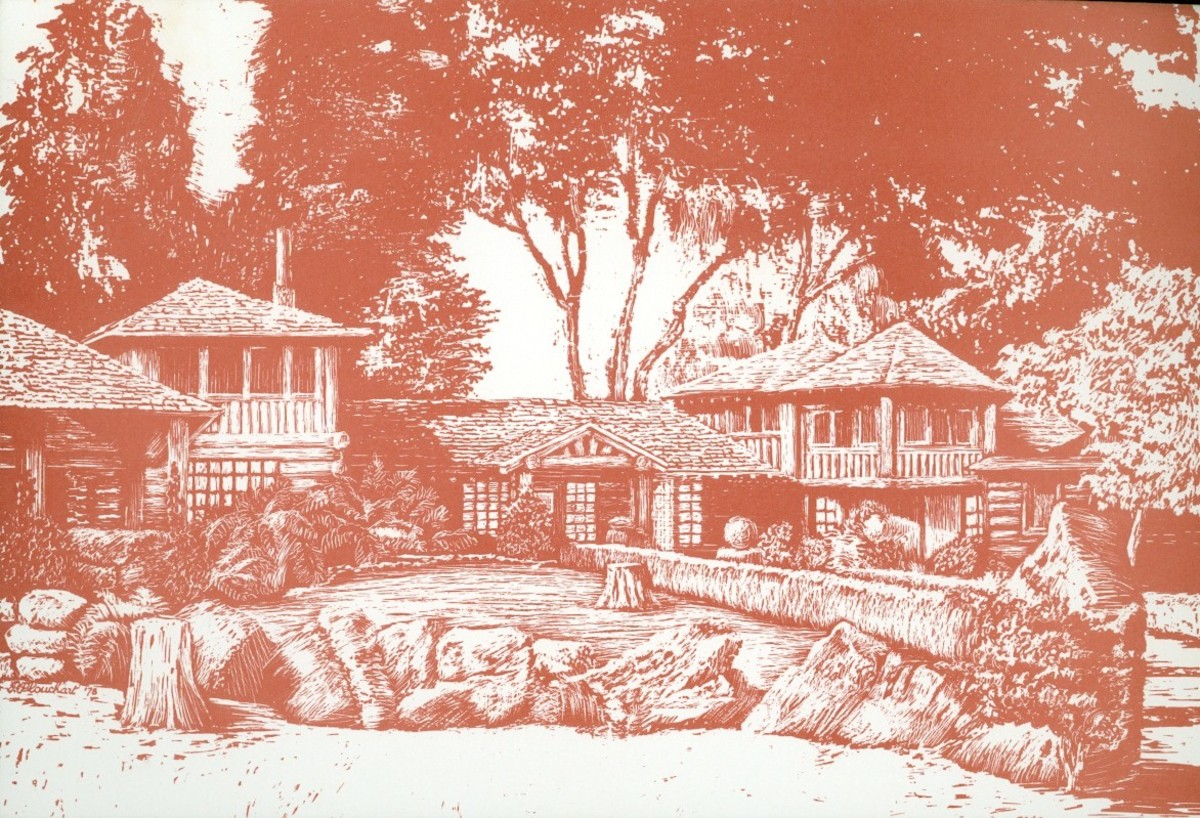 Postcard of the late great Sanborn Park Hostel, which closed in 2006