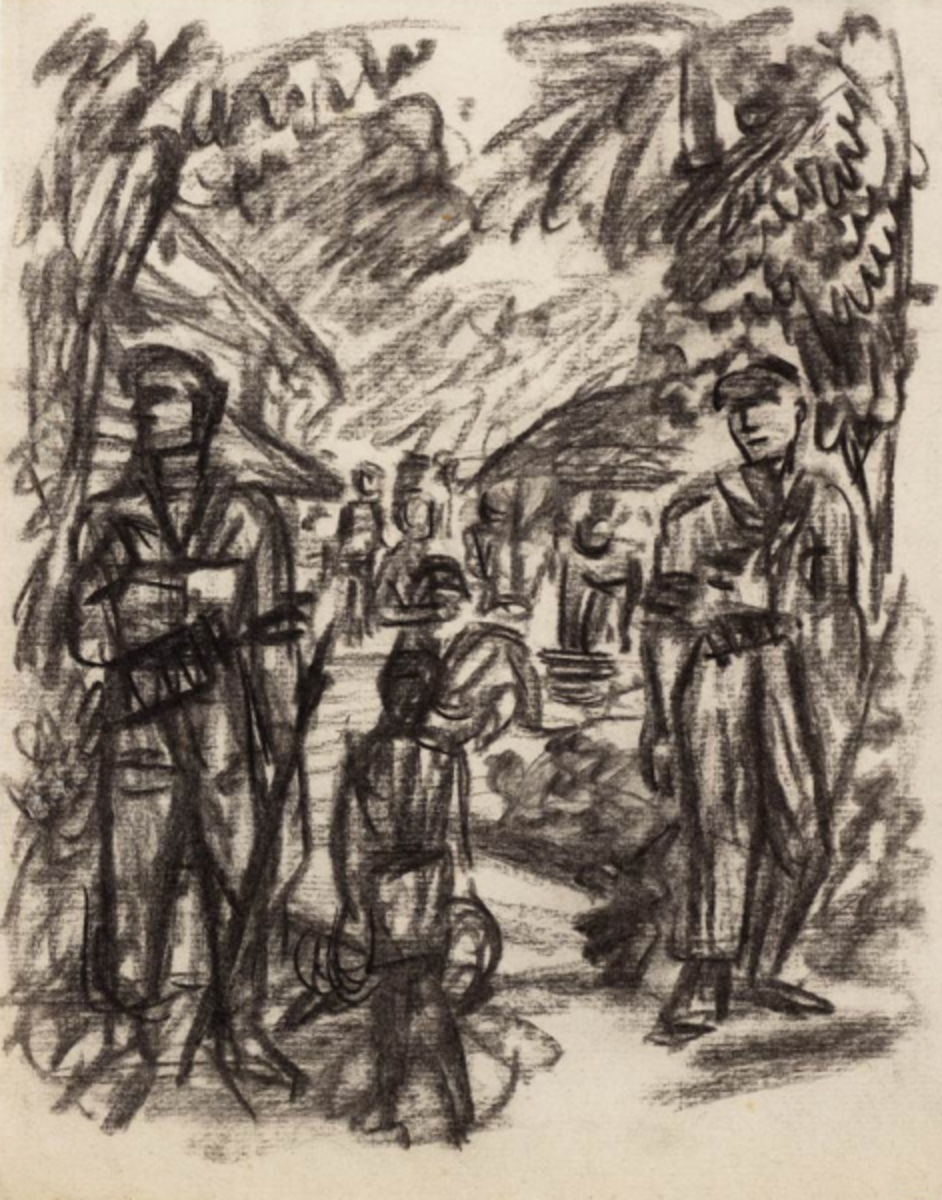 Dutch soldiers on patrol on the island of Java 1946-1949 by Synco Schram de Jong