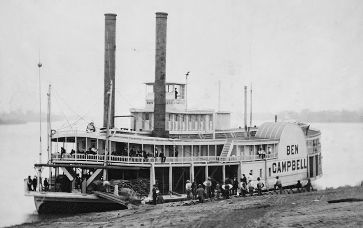 An 1850's era Mississippi River Steamboat