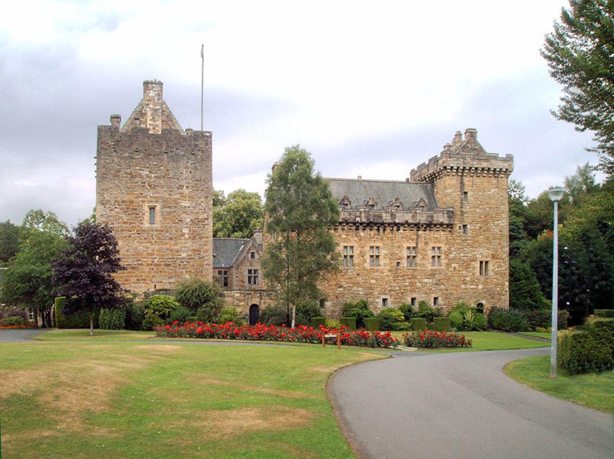 Dean Castle Country Park in Kilmarnock, East Ayrshire, Scotland