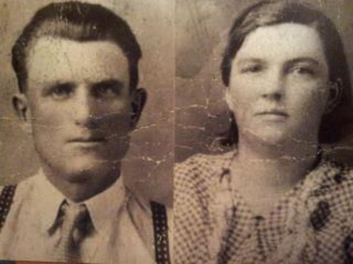My grandmother - Roberta Margaret Barbara King (Child of William King and Henrietta Gwyer) and my Grandfather, Israel Tremblay (Memere and Pepere)