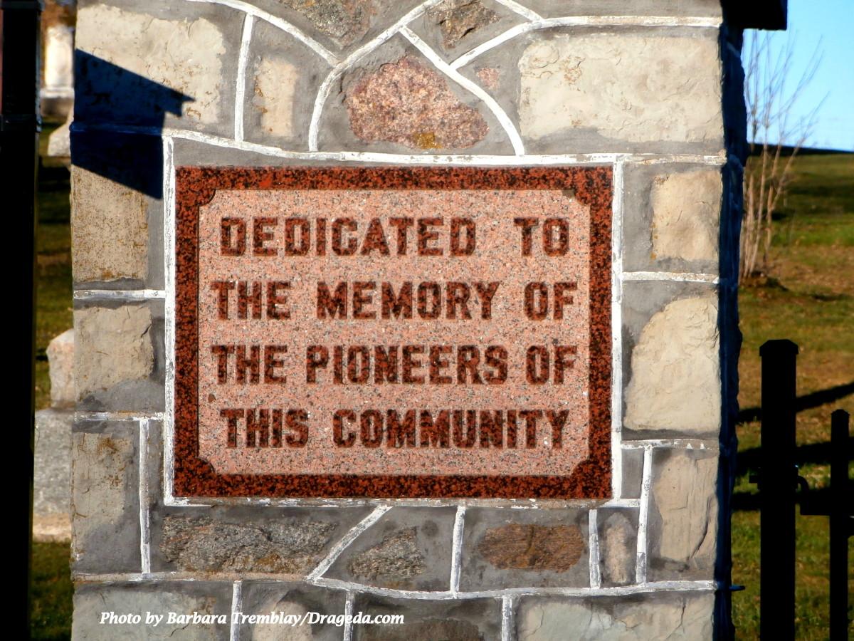 Hollen Cemetary Dedication Plaque