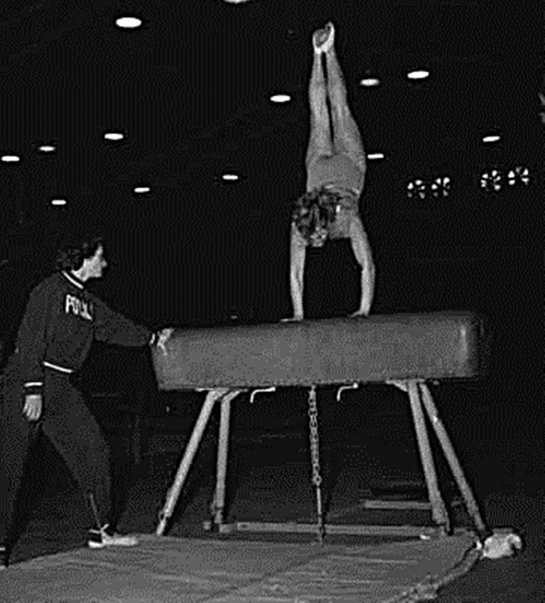 Some of the girls were able to effortlessly fly over the vaulting horse, performing a flip on top. To me, it was terrifying!