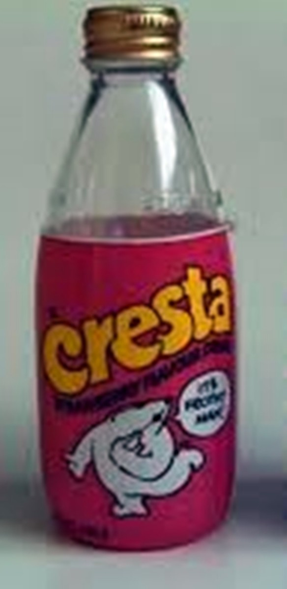Cresta fizzy strawberry drink, which I used to drink by the gallon to wash down crisps and chocolates as I hid out in the school cloakroom