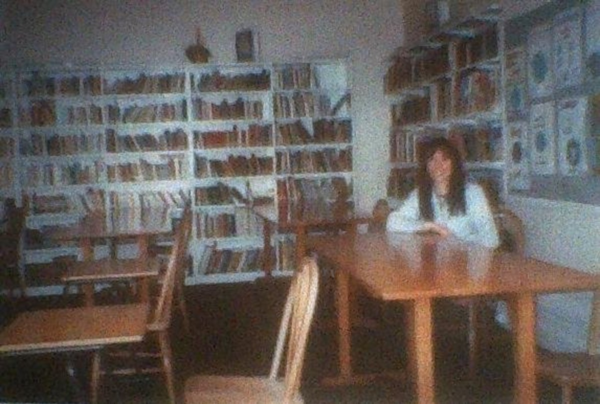 Me sitting in the library of my former school, 20 years after leaving, just before it was closed down to convert it into flats.