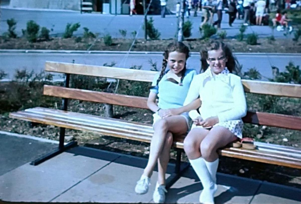 Me (pictured on the left) at the age of ten, with my cousin Sharon.