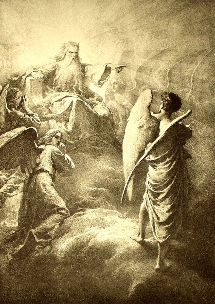 Lucifer before the Lord