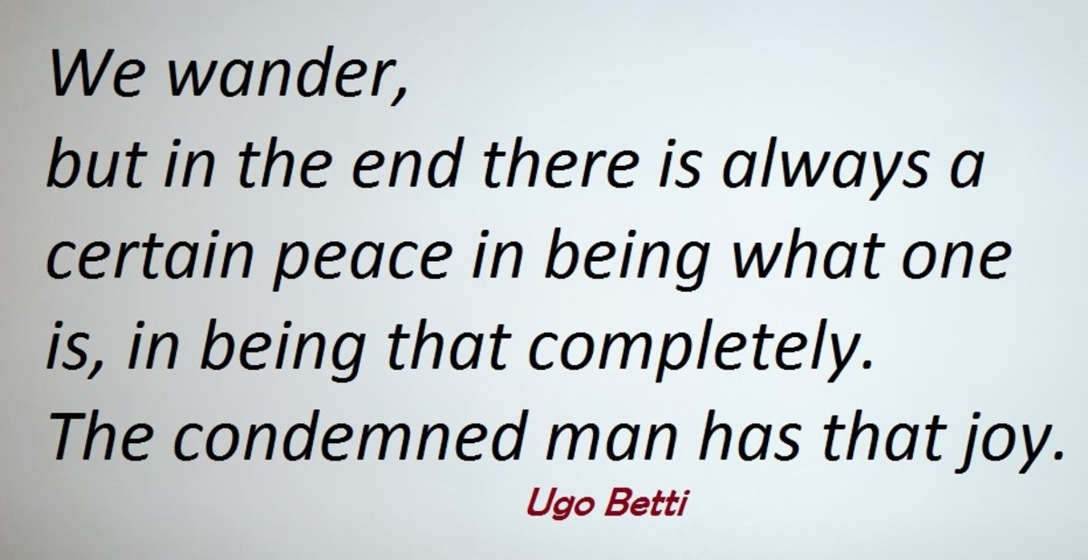 Ugo Betti born February 4 1892 to June 9 1953 was an Italian judge, and renowned author and Playwright