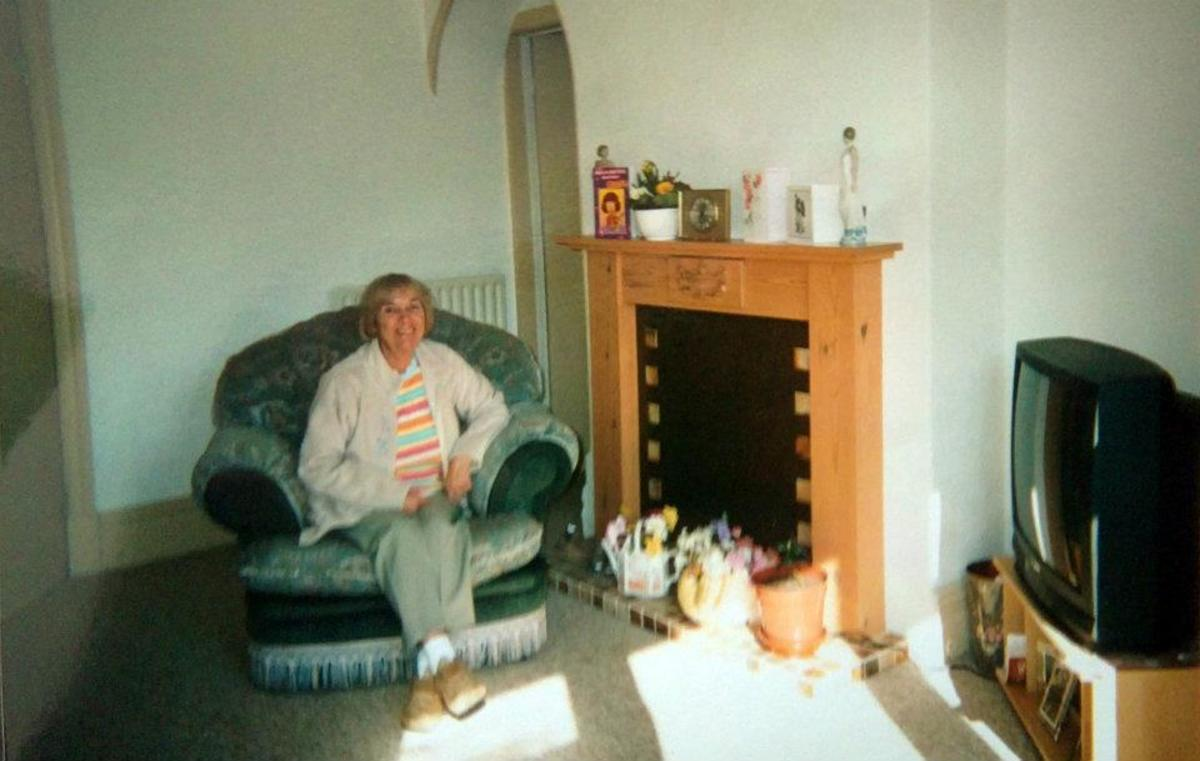Mum in the flat she moved into following my dad's death