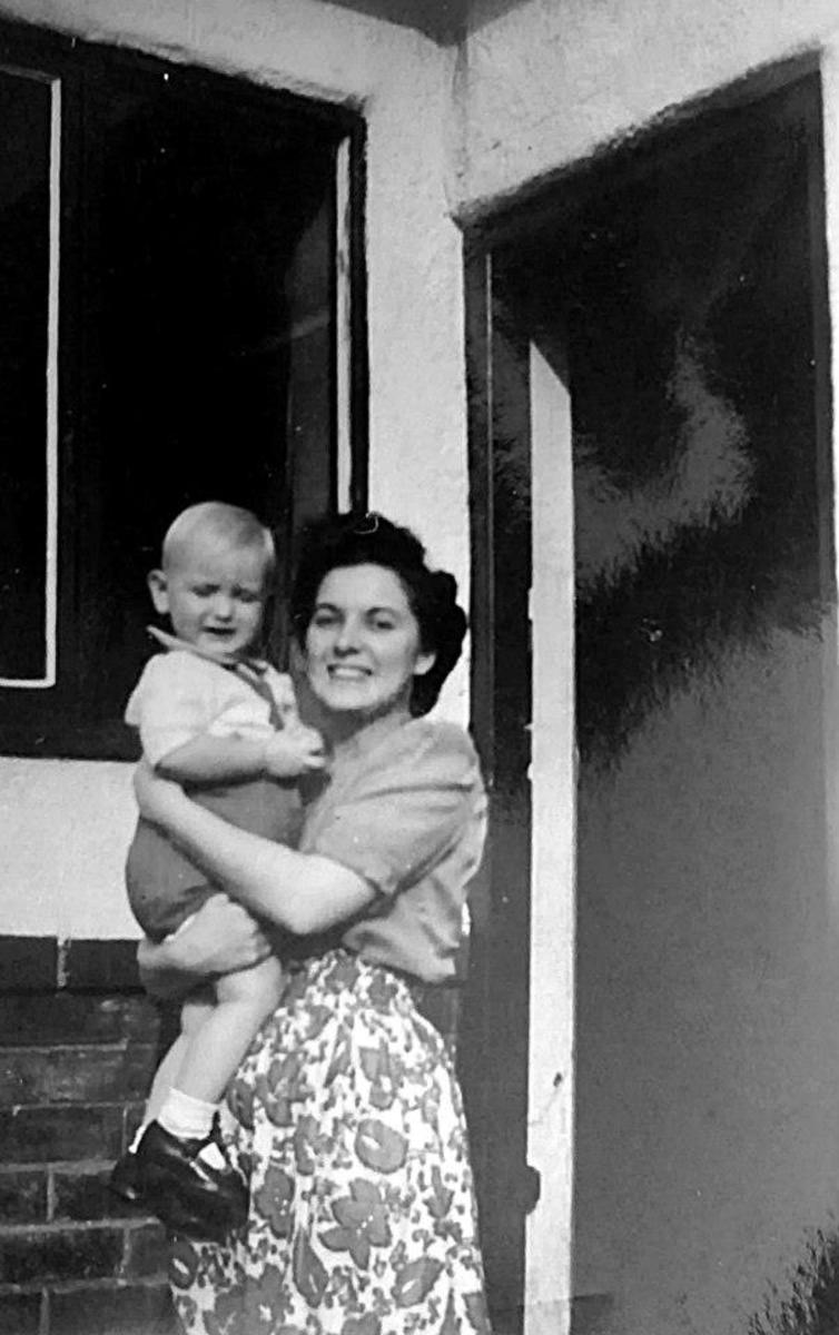Going it alone: Mum with my brother when he was a toddler.
