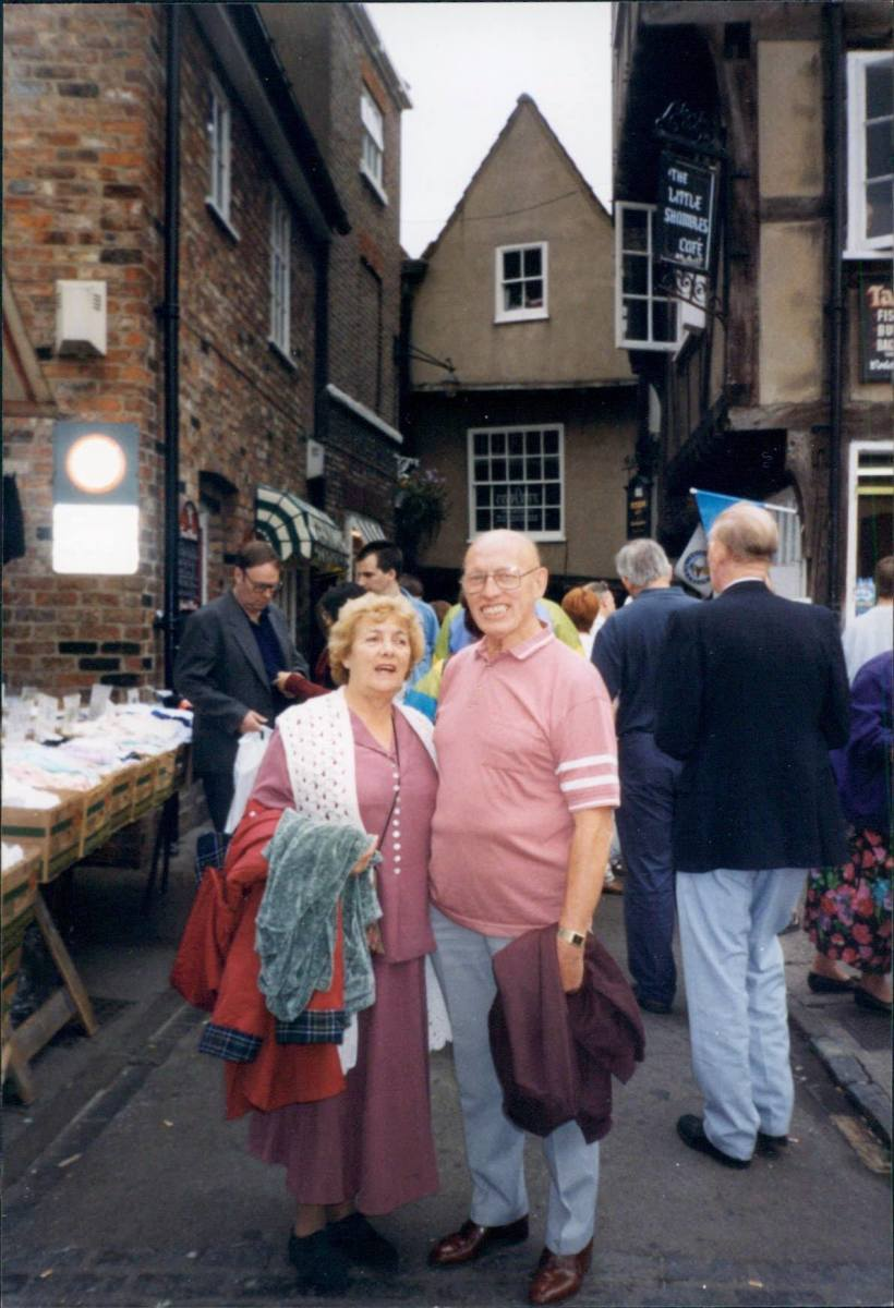 Mum and dad on a day out (1990s)