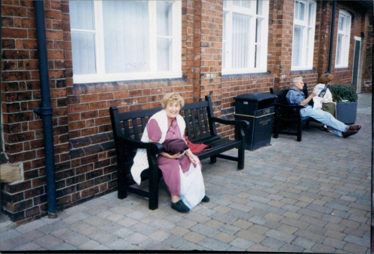 Mum on a day out in the 1990s