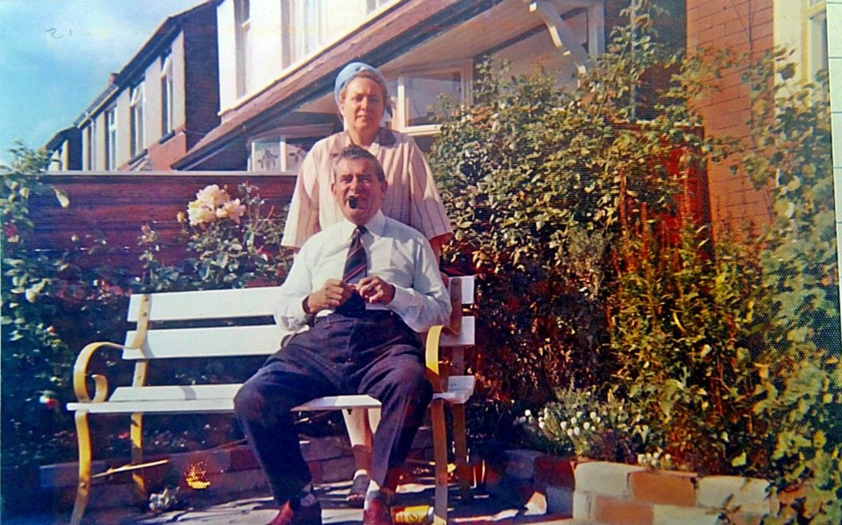 Mum with Grandad Trigg in the 1970s - his death left a massive void in our lives