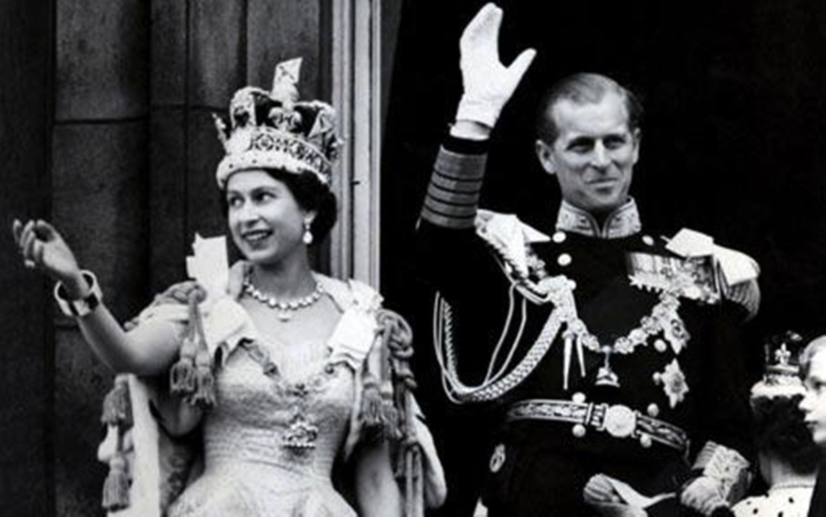 The Queen and Prince Philip on the occasion of the Coronation in 1953.