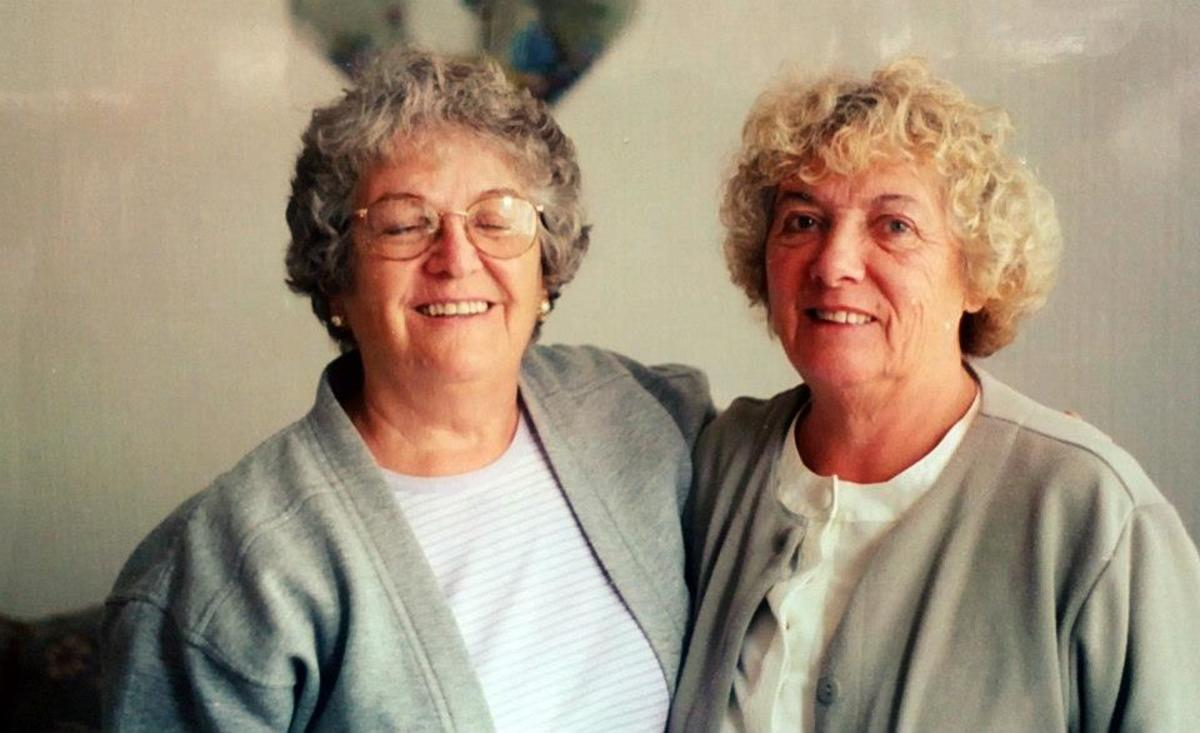 Mum, pictured on the right, met her friend Myra again in the 1990s. They had not seen each other for more than 40 years, but laughed and giggled like it was yesterday.
