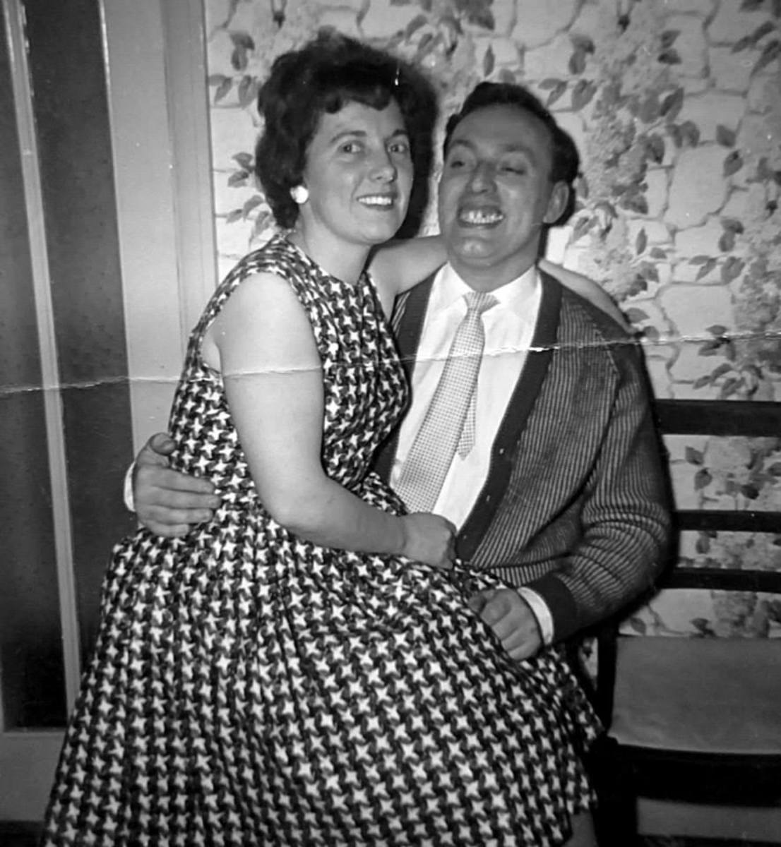 Mum and dad on a night out in the 1960s