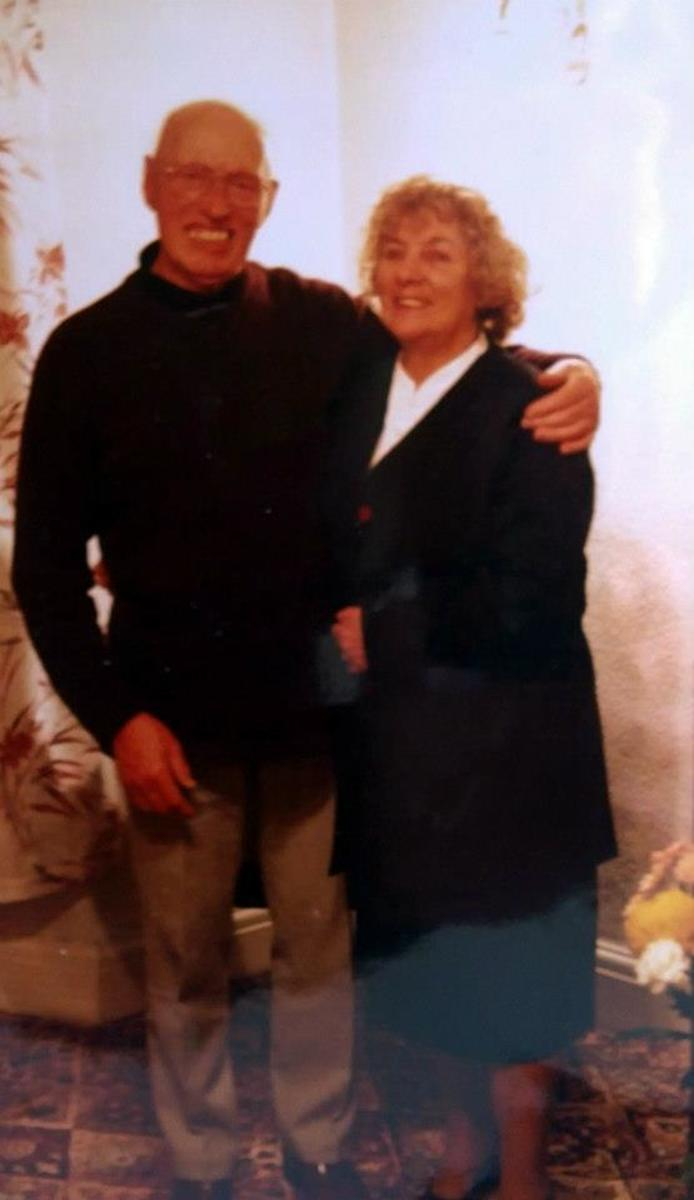 Mum and dad on their 42nd wedding anniversary in November 1999.
