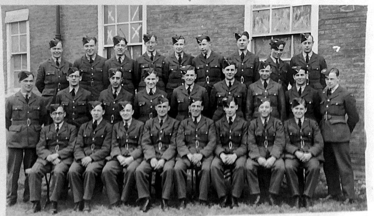 My grandad Frank Trigg (front row, seated, fourth from right) when he was in the RAF during World War Two.