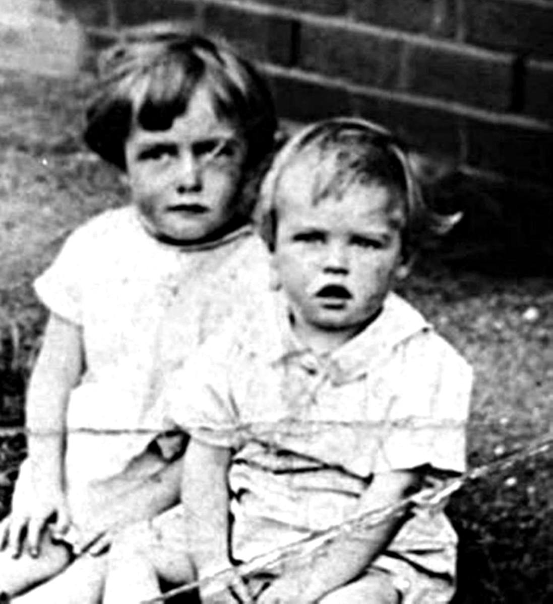 Mum and her little brother, my uncle Ken, as children in Yorkshire in the early 1930s.