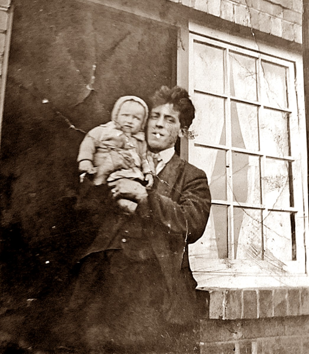 My grandad, Frank Trigg, with mum as a baby.