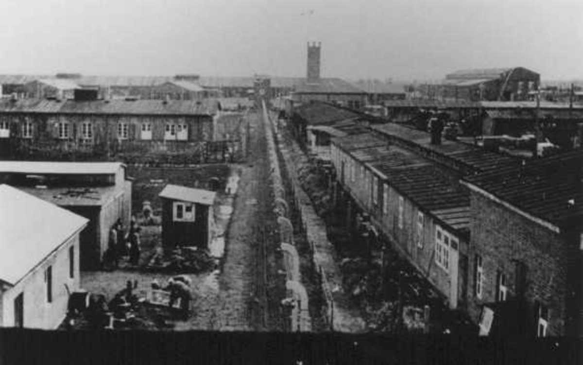 View of Neuengamme concentration camp in wartime Germany.  Photo from U. S. Holocaust Museum.
