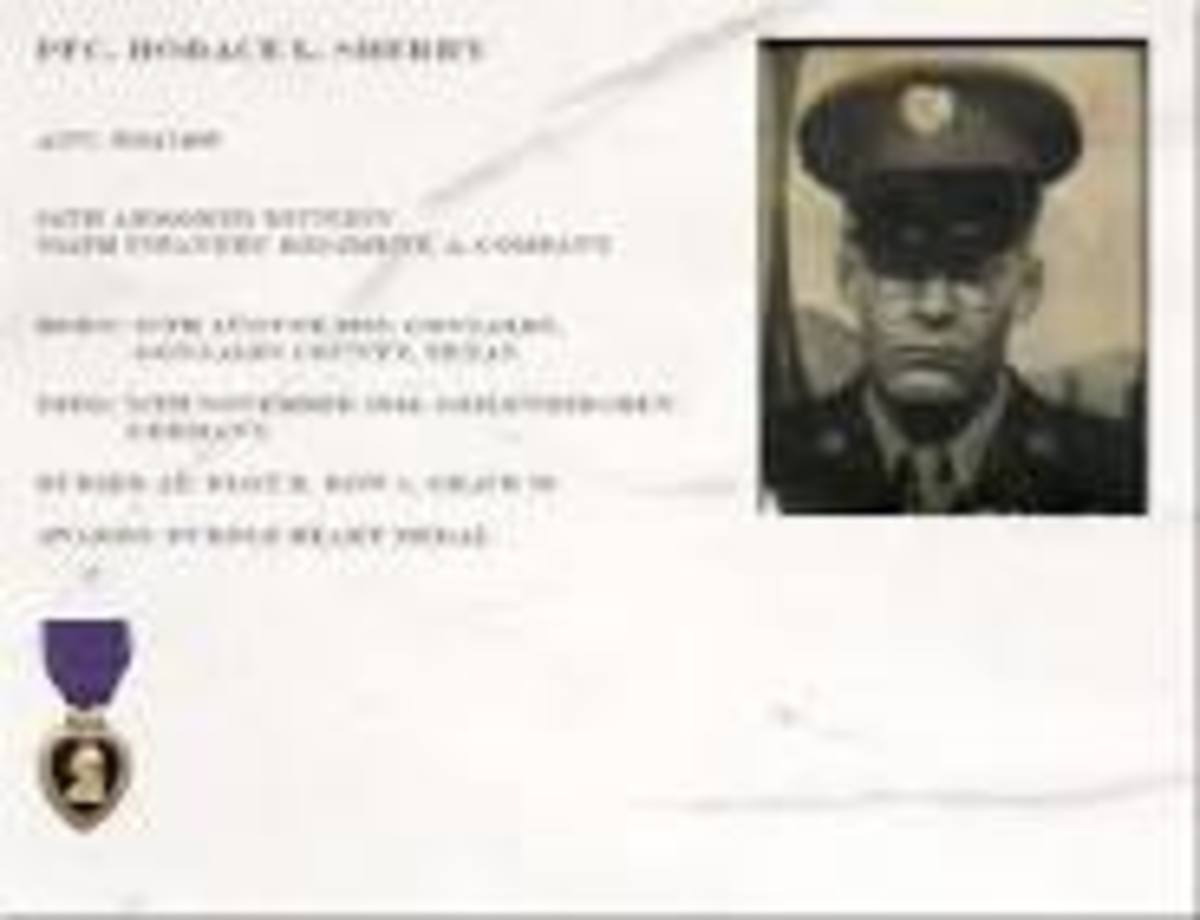 Pfc. Horace L. Sherry of the 334th Infantry was killed in action at Geilenkirchen, Germany.