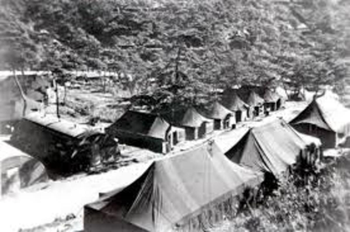 Camp Howze during construction for the war effort.