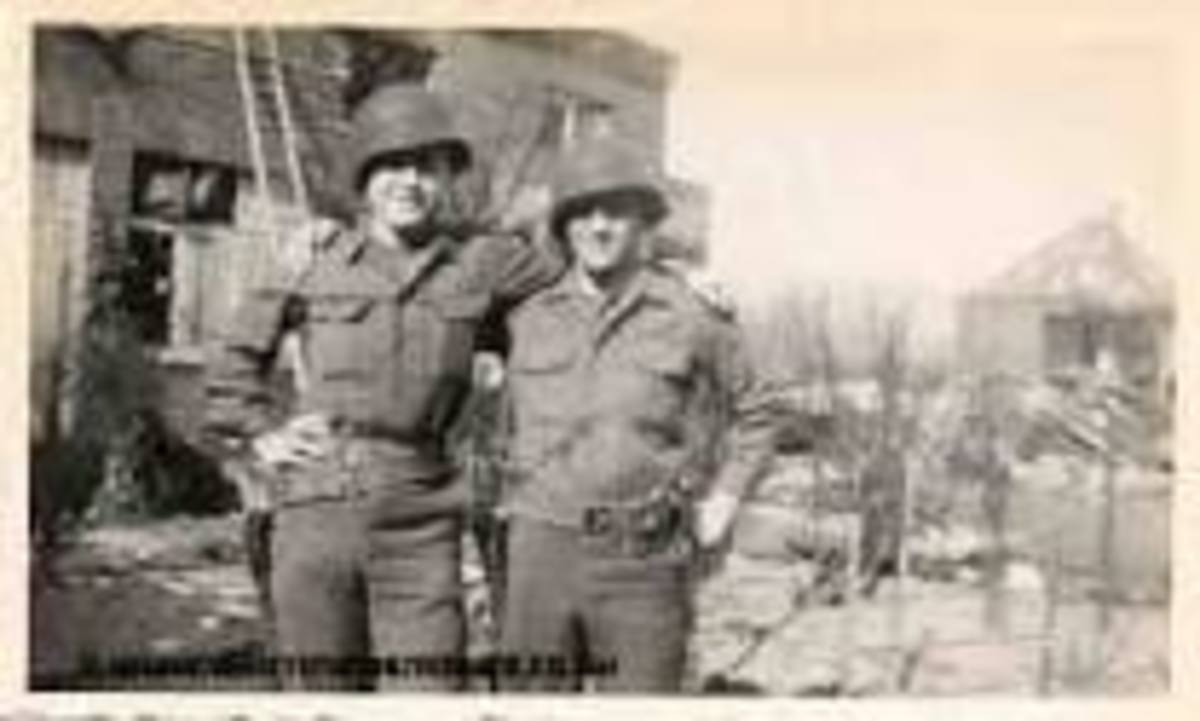 Norbert Bockerstettel and George Hagens of the 334th Infantry.