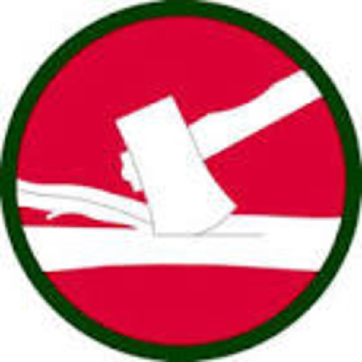 Emblem of the 84th Division known as the Railsplitters.