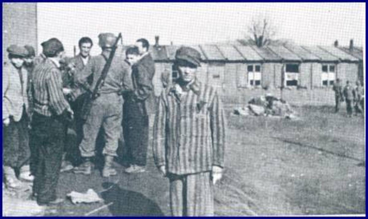 The 84th Division at Ahlem concentration camp. Photo courtesy of Corporal Vernon W. Tott of the 335th Infantry.