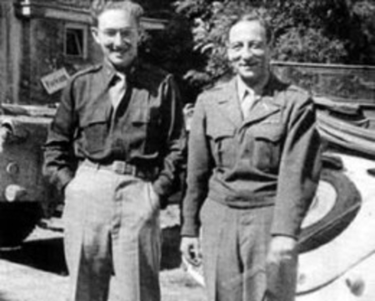 Henry Kissinger (left) in 1945