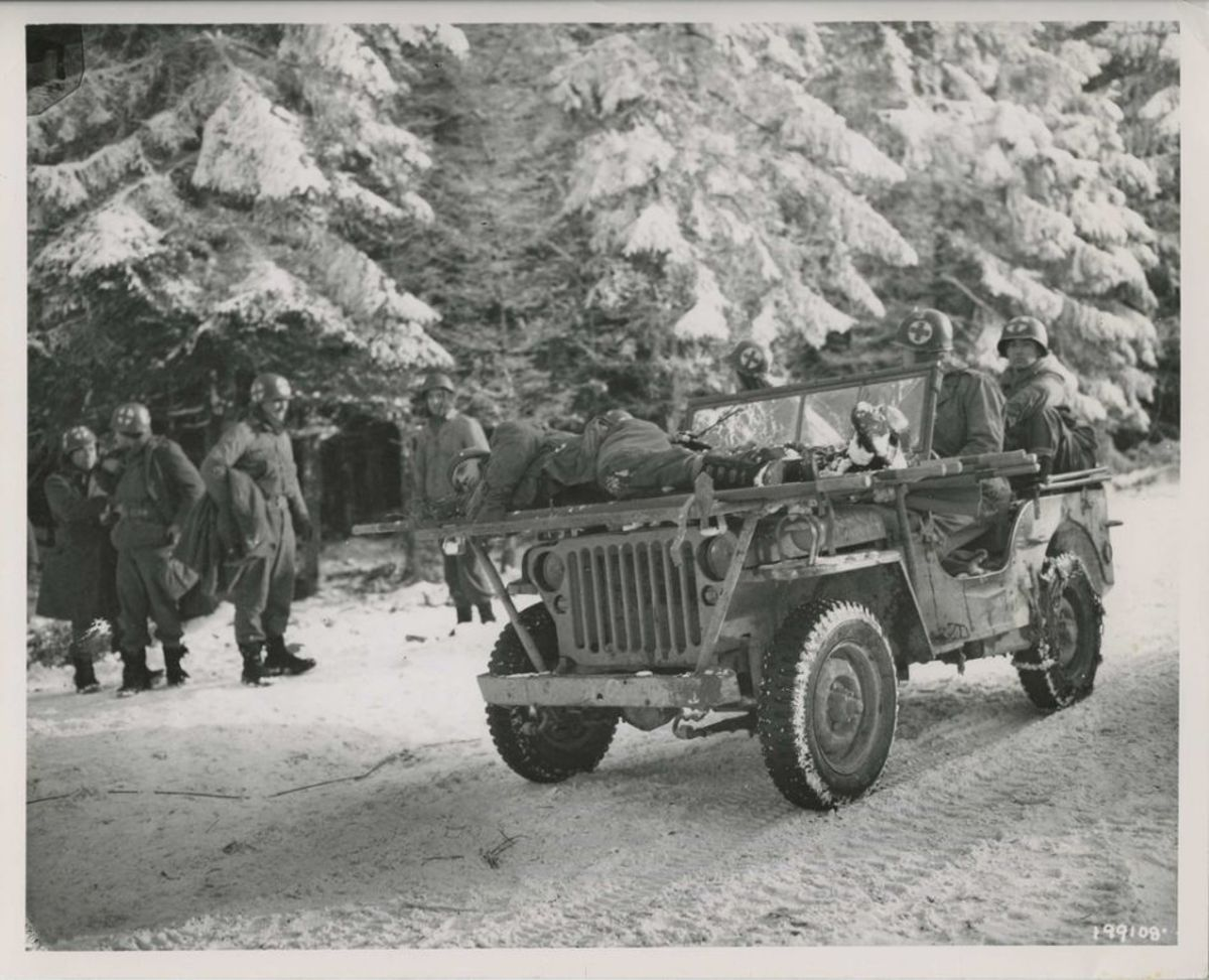 84th Division in the Ardennes. 309th Medical Battalion.
