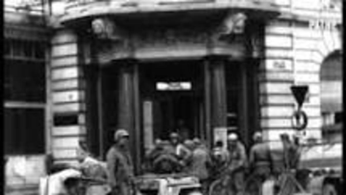 Prisoners captured near Porta forced to march by the 334th Infantry.