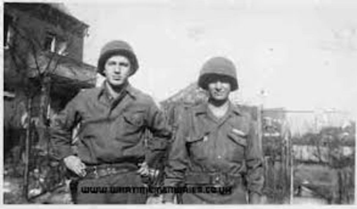 John Pisano and William Haskin of the 334th Infantry.