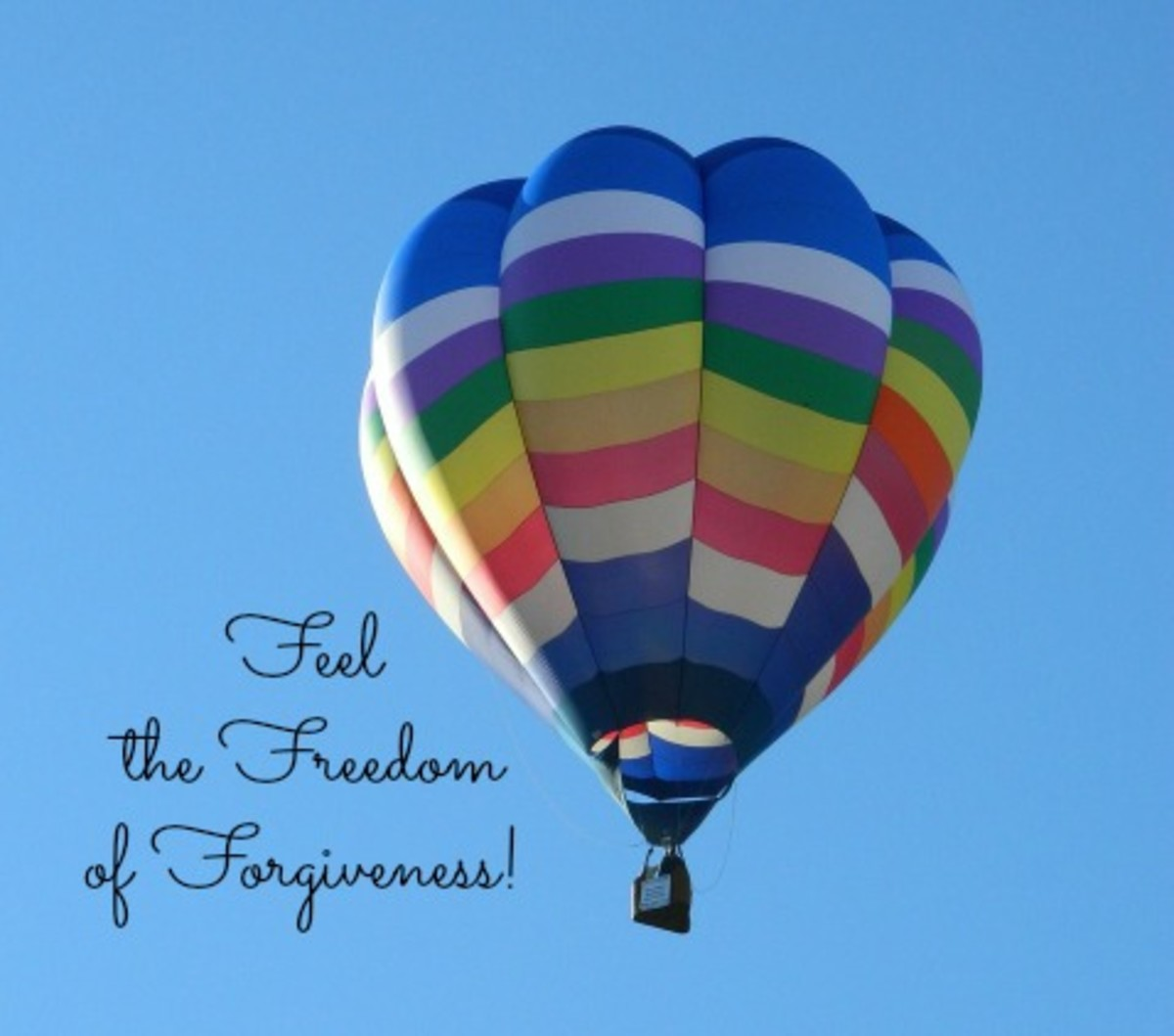 A hot air balloon symbolizes letting go of anger and grief.