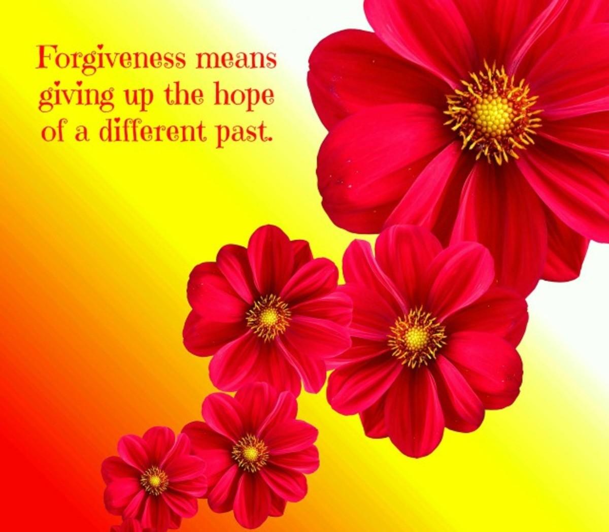 An inspirational poster about forgiveness.