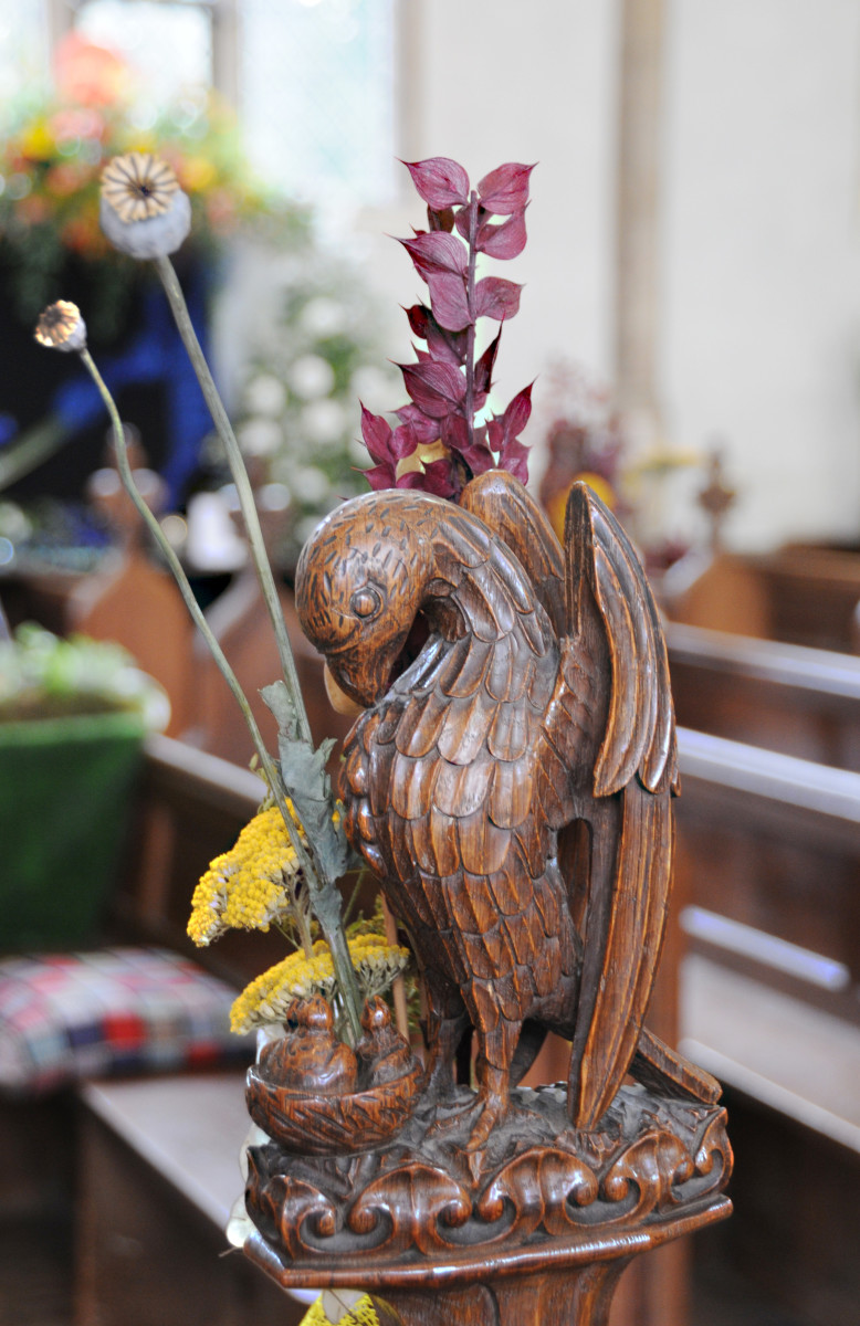 Wooden Carving of a Bird in Swaffham Church