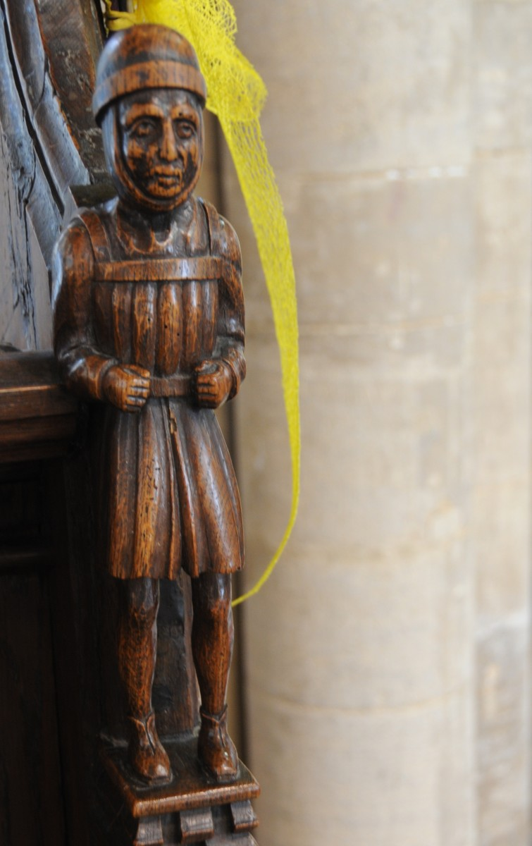 The Pedlar of Swaffham, A Wooden Carving