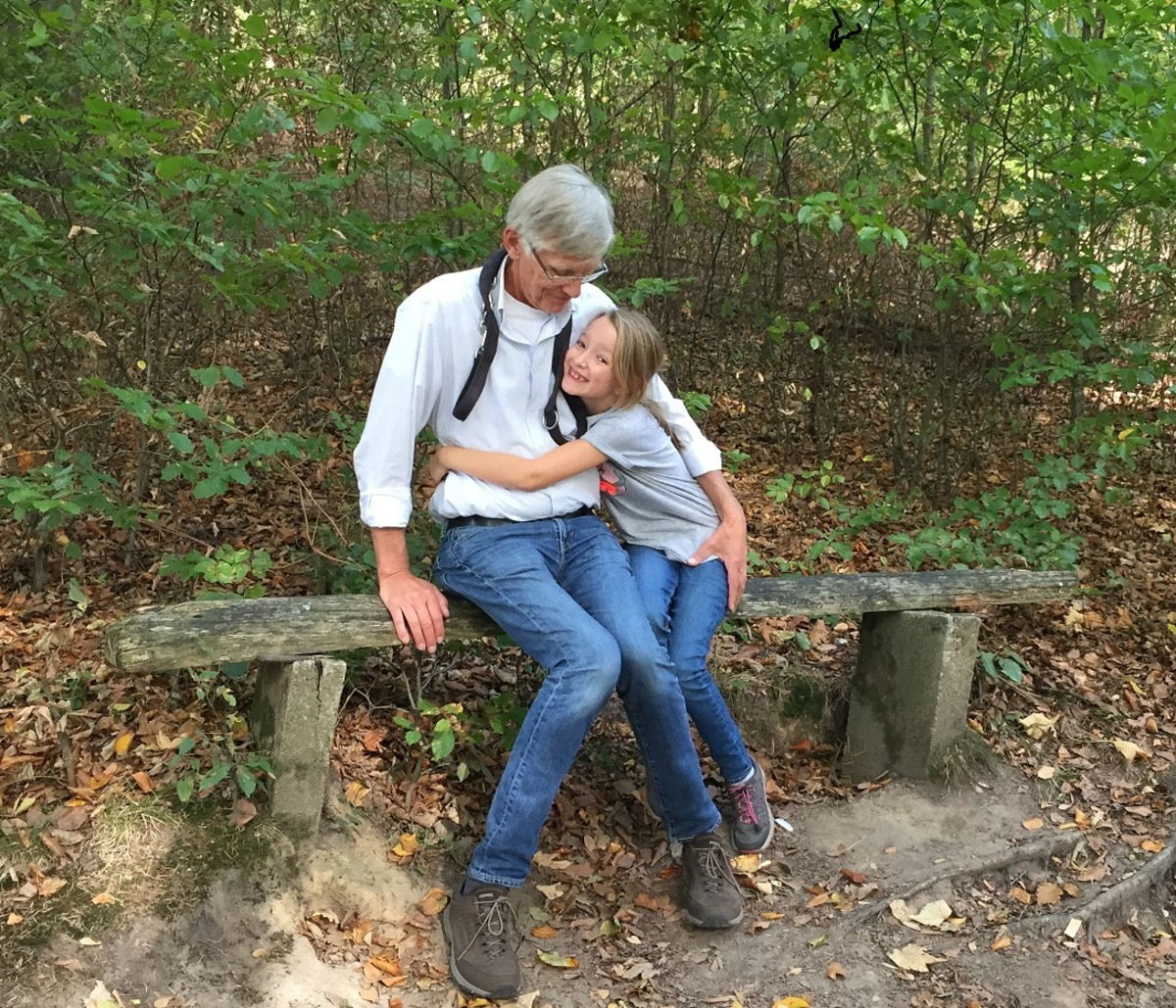 Granddaughter with Grandfather.  Photo by Scivi.